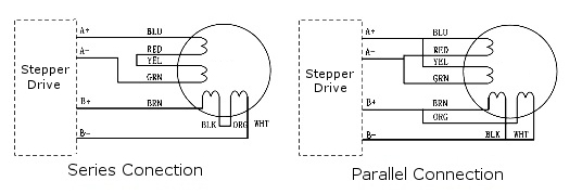 leadshine 57hs09 2 phase nema 23 stepper motor wiring diagram